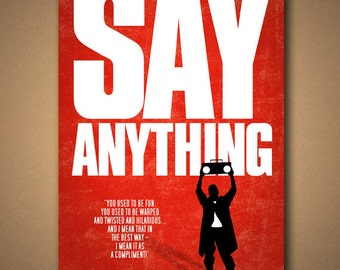 SAY ANYTHING Movie Quote Poster