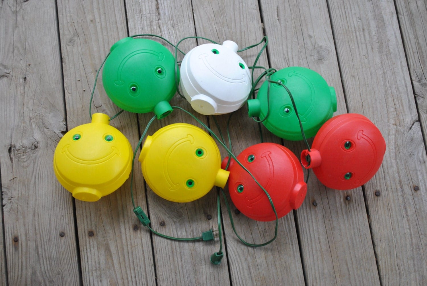 Vintage String Lights Etsy : Vintage Smiley Happy Face String Lights Retro Mold