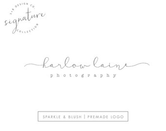 Premade Photography Logo - Etsy Shop Logo - Simple Modern Signature Cursive Design - Handwritten Style Script Lowercase Watermark (e873)