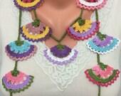 Oya Necklace,Crochet Lariat Necklace,Lariat Jewellery