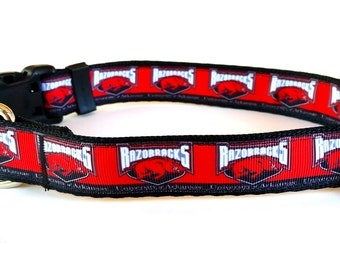 University of Arkansas Razorbacks Dog Collar