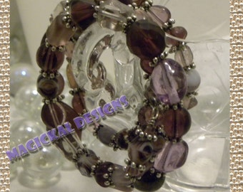 Made to Order Spiral Bracelet - Triple spiral bracelet of your choice of colored beads