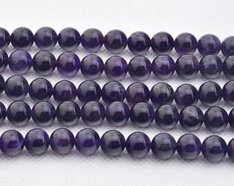 "16""  Natural  Amethyst  Crystal   Beads ,  8mm  Amethyst  Bead"