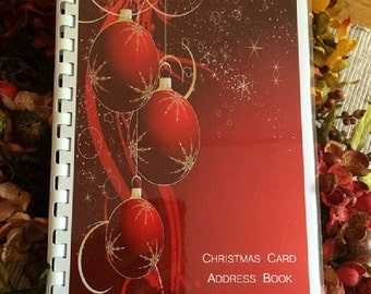 Christmas Card Address Book Personalized Gift Red Cover Design