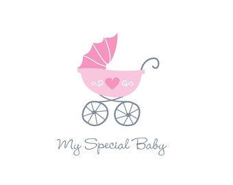 Baby pram logo suitable for baby clothing, toy and products.