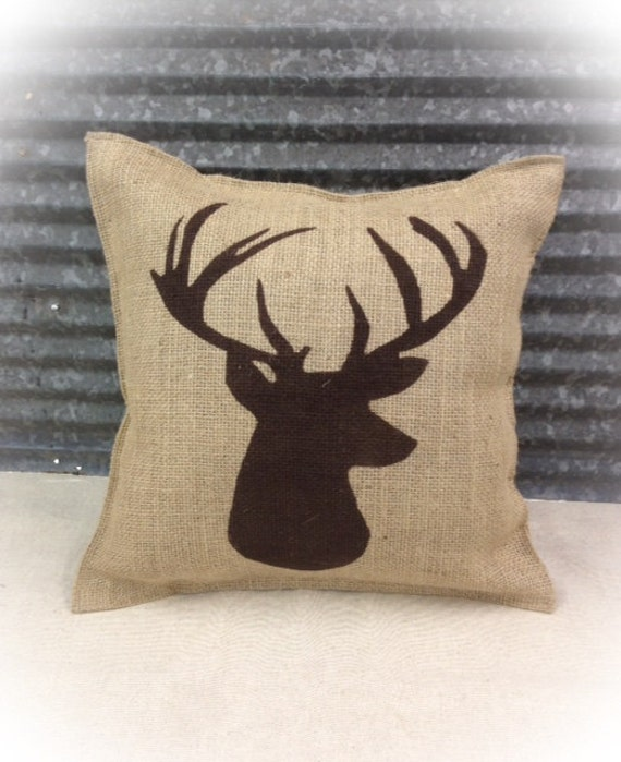 Decorative Pillows Deer : Decorative Pillow with a Deer silhouette. COMPLETE pillow.