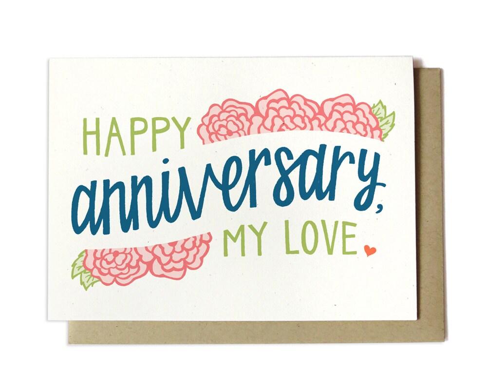 Happy Anniversary My Love Anniversary Card Wedding