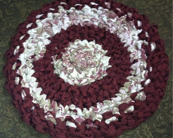Round Rag Rug - 27 inch across