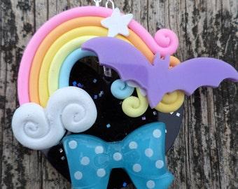 Creepy Cute Pendant. Pastel Goth Pendant. Gothic Lolita/Decoden/ Decora/ Fairy Kei pendant.