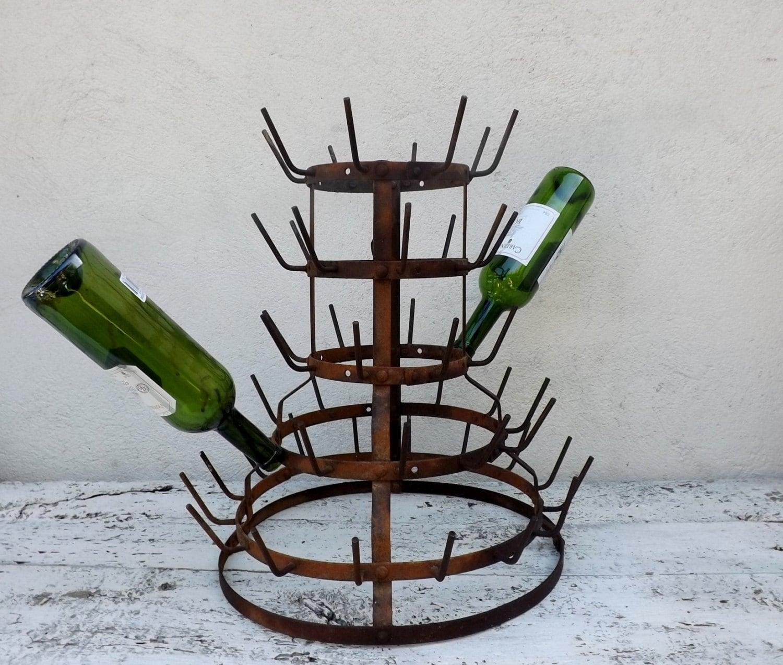 french bottle drying rack vintage bottle drier rustic country. Black Bedroom Furniture Sets. Home Design Ideas