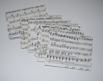 Set of 10 Sheet Music Envelopes