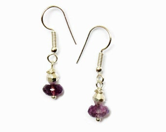 Rainbow Colour Coated Amethyst Earrings - February's Birthstone - Gift for Her