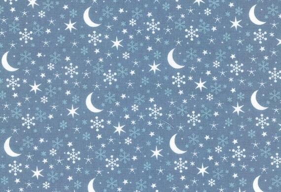 Snowflake star moon print fabric half meter 100 for Moon print fabric