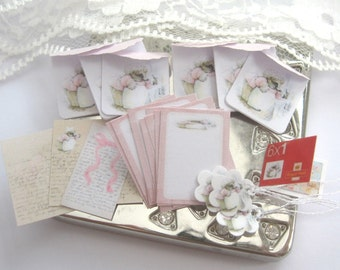 dollhouse beatrix potter writing paper stationery set one inch scale miniature