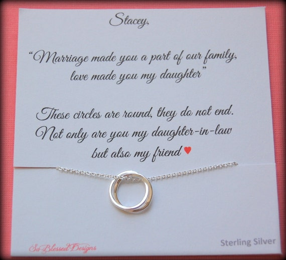 Special Wedding Gifts For Son And Daughter In Law : mother in law, gift boxed jewelry, daughter in law POEM, wedding gift ...