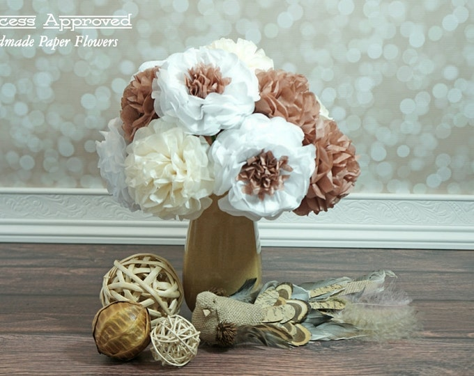 Country Tissue Paper Flower Bouquet (12 count)