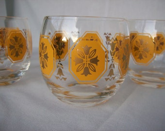 Federal Glass Octagna Roly Poly Bar Glasses Set of 4