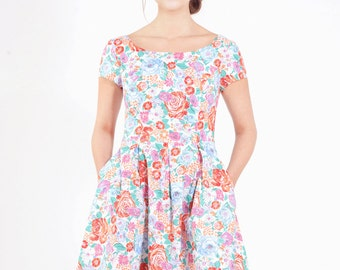 P.I.A. flowered cotton dress