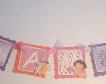 "Dora ""I Am 1"" High Chair Banner"