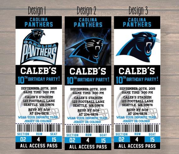 Carolina Panthers, Carolina Panthers Invitation, Carolina ...