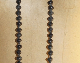 "Black Brown Earth Tones Antler Beads 52"" 11mm Necklace"
