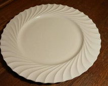 Made in Japan Rare Nasco Whitestone 12 inch Serving Plate with White Ruffled Edge