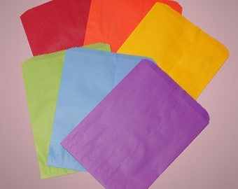 12 Solid Color Bright Treat  Bags - Mix and Match Colors