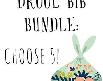 Bandana Bib Multiples Order - Choose ANY 5 - Drool Bib - Bibs for Babies