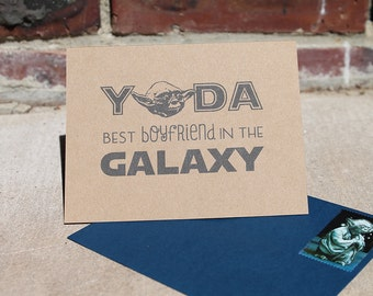 Star Wars Card - Yoda best boyfriend