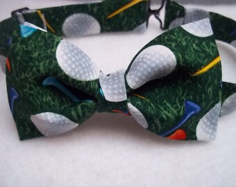Golf Bow Tie-Golf-Bow Ties-Sport Bow Tie for Men-Boy's Golf Bow Tie-Golf Ball Bow Tie-Golfing-Father's Day