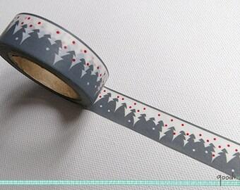 Washi Tape - Christmas // Christmassy Washi Tape, Snow Washi Tape, Washi Tape, Masking Tape // 10m