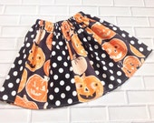 Girls Halloween Skirt Size 6 Ready To Ship Boutique Clothing By Lucky Lizzy's