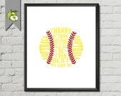 """Softball, softball Signing, softball Coach, Appreciation, """"Thanks for helping us be the best we can be"""", typography Softball, DIGITAL, SB2"""