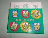 Sanrio Vintage 1994 Keroppi Frog Post-It type notes FUN SET Kerokerokeroppi