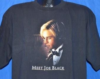 90s Meet Joe Black Brad Pitt Movie Black Vintage t-shirt Extra-Large