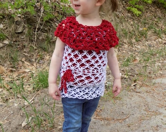 Lovely Lace Sweater - PDF crochet pattern - Spring, Summer, Fall, Winter, Sleeveless, Solomon's knot, Lovers Knot