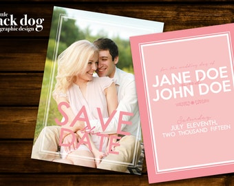 Pretty in Pink Save the Dates