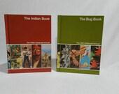 1980 Childcraft Bug and Indian Books  Vintage, 2 Book Volume Set Vintage Decor JRTS