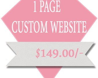 1 Page Custom Website, Professional, Affordable, Cheap
