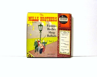 "The Mills Brothers DECCA 45 RPM Famous Barber Shop Ballads Vol. 3 Decca 9-91 45 RPM 7"""