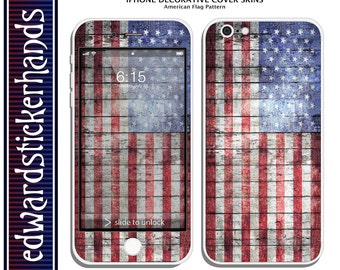 iPhone Decorative Cover Skins - American Flag Pattern!
