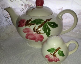 1950s Green Arbor Musical Tea Pot by Continental Kilns