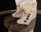 Reserved Primitive Baby Shoes Boots Victorian Child Boots French Leather Booties Antique Footwear