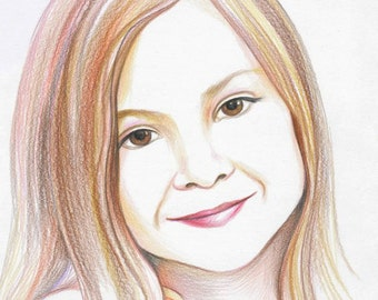 Color pencil custom portrait
