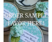 Sample Favor Sample / Your Initial / Many Options Available / Personalized Wedding Favor / Soy Candle / Choose your design / wax initial