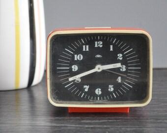 Prim Orange Alarm Clock, Mechanical Movement, Alarm Clock, Clock, Vintage Alarm Clock, VIntage Clock, Retro Clock, Small Alarm Clock