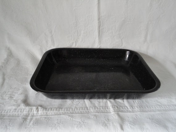 Granite Ware Black White Speckled Baking Pan House Ware