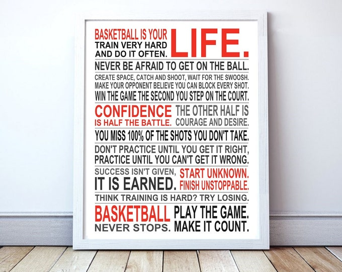 Basketball Is Your Life - Custom Manifesto Poster Print