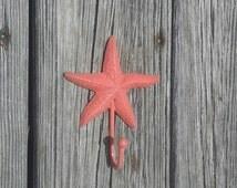 Starfish wall hook, coastal themed towel hook, nautical nursery, nautical bathroom hook, beach house, lake house decor, coastal chic