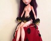 """OOAK """"Black Bird"""" BJD Monster High doll repaint"""